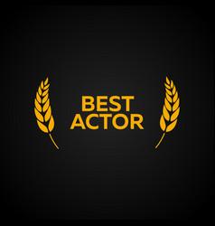 Best actor laurel film awards winners film vector