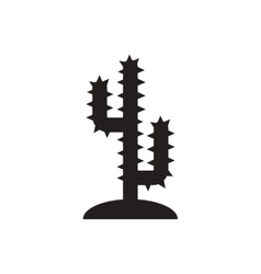 Black icon on white background cactus sign vector