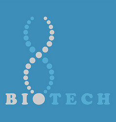 DNA spiral logo vector image
