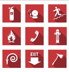 Fire Signs flat vector image