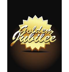 Gold jubilee art vector image