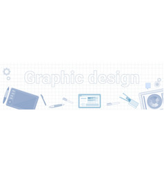graphic design idea word on squared background vector image
