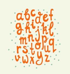 Handdrawn alphabet vector