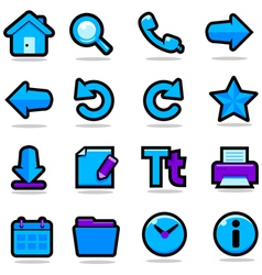 Internet browsing icons set vector image vector image