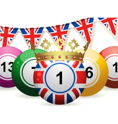 Lottery Bingo Background vector image vector image