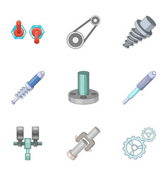 Mechanical and electrical parts icons set vector