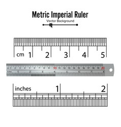 metric imperial rulers centimeter and inch vector image