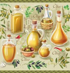Olive set vector image vector image