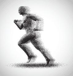 running dot man 3011 vector image