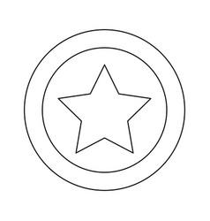silhouette star favorite icon design vector image
