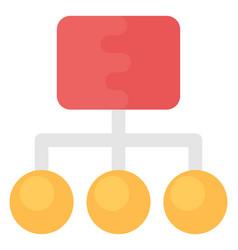 Sitemap flat icon vector