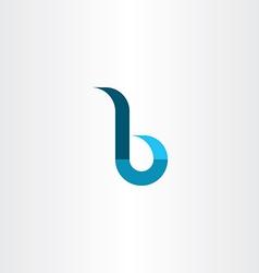 Small letter b logo sign vector