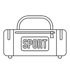 Sports bag icon outline style vector image vector image