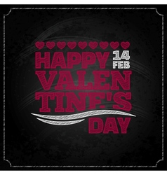 valentines day chalkboard design background vector image vector image