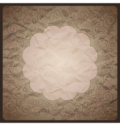 Vintage background with ornamental frame vector image vector image