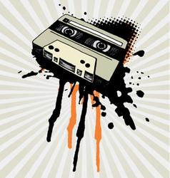vintage tape splash vector image vector image