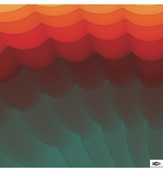 Wavy grid background mosaic 3d abstract vector