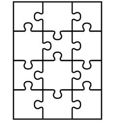 White puzzle vector
