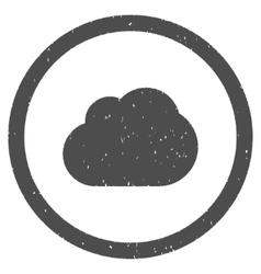 Cloud icon rubber stamp vector