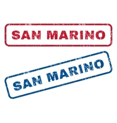 San marino rubber stamps vector
