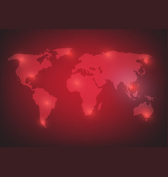 World map background on red vector
