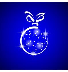 Blue christmas ball vector image