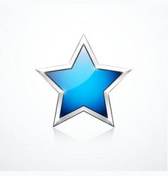 blue star icon vector image