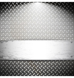 Fluted metal background vector image