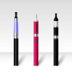 Electronic cigarettes color vector