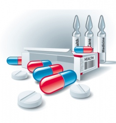 Pharmaceutical icons vector