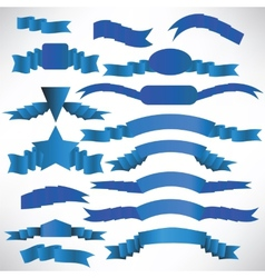 Blue ribbons with a stripe vector