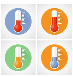 Thermometer icon with scale vector