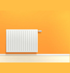Radiator on wall vector