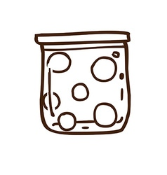 Hand drawn jar of balls vector