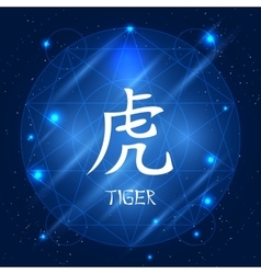 Chinese zodiac sign tiger vector