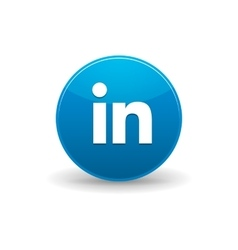 Linkedin icon simple style vector