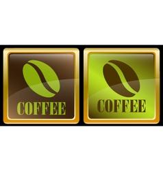Coffee bean icons vector image