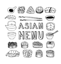 Asian menu vector