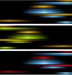 Abstract tech striped banners vector image vector image