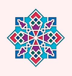 arabesque arabic vignette orient colorful vector image vector image