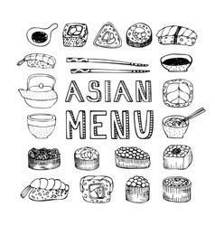 Asian menu vector image vector image
