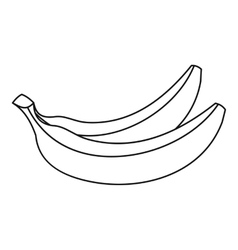 Banana fruit icon outline style vector image