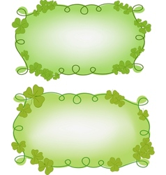 Banner templates for St Patricks day vector image