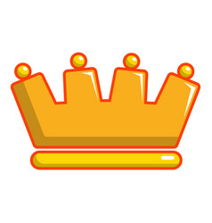 baron crown icon cartoon style vector image