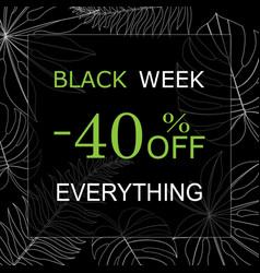 black week vector image