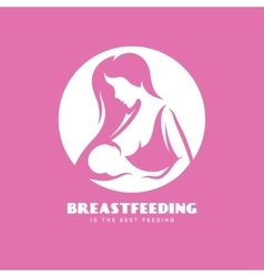 Breastfeeding is the best feedign minimalistic vector