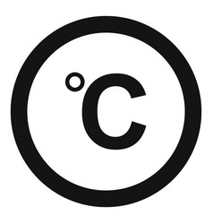 celsius icon simple black style vector image