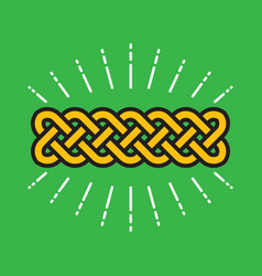 celtic infinity kot design vector image vector image