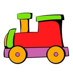 children locomotive icon icon cartoon vector image