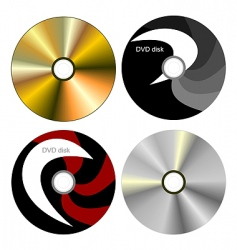 dvd disk with both side vector image vector image